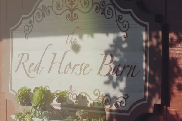 Red Horse Bar Equestrian Center Sign
